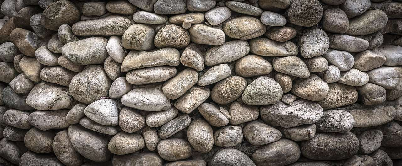 stone, wall, damme